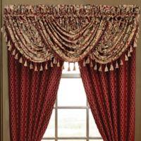 Croscill® Roena Rod Pocket Window Valance in Burgundy