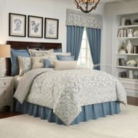 Rose Tree Placio Reversible King Comforter Set in Seafoam