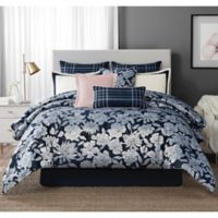Laundy by SHELLI SEGAL® Cameron Reversible King Comforter Set in Navy