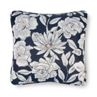 Laundry by SHELLI SEGAL® Cameron Square Throw Pillow in Navy