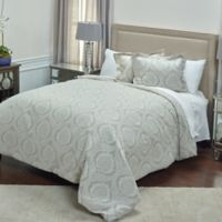 Rizzy Home Isabella King Duvet Cover in Ivory