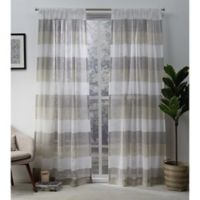 Exclusive Home Bern 108-Inch Rod Pocket Sheer Window Curtain Panel Pair in Natural