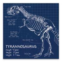 Lot26 Studio Tyrannosaurus Dinosaur 18-Inch Square Wrapped Canvas