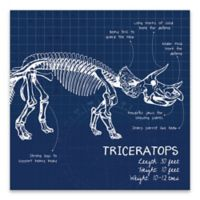 Lot26 Studio Triceratops Dinosaur 18-Inch Square Wrapped Canvas