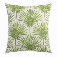 Print Outdoor Deep Seat Back Cushion in Green Palm