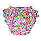i play.® Mix 'n Match Pink Flower Field Size 3 Months Ultimate Ruffle Swim Diaper