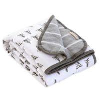 Burt's Bees Baby® Pine Forest Organic Cotton Receiving Blanket in Heather Grey