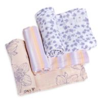 Burt's Bees Baby® Blackberry Flower Organic Cotton Muslin 3-Pack Swaddle Blankets