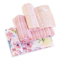 Burt's Bees Baby® Spring Bouquet Organic Cotton Muslin 3-Pack Swaddle Blankets in Blossom