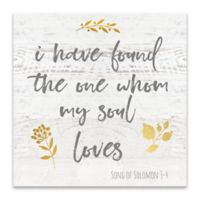"""""""Found the One"""" 18-Inch Square Canvas Wall Art"""