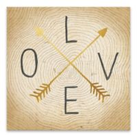 Wedding Typography 18-Inch Square Wrapped Canvas