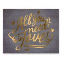 """Artissimo Designs """"All You Need Is Love"""" 16-Inch x 20-Inch Canvas Wall Art"""