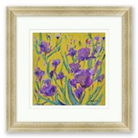Iris Floral 18.5-Inch Square Framed Wall Art