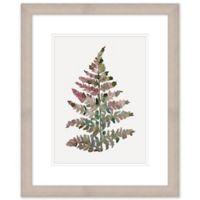 Watercolor Fern 2 18-Inch x 22-Inch Framed Wall Art