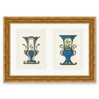 Vintage Vase 1 25.25-Inch x 34.75-Inch Framed Diptych Wall Art