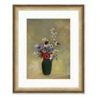 Vase of Flowers 31.75-Inch x 25.75-Inch Framed Print Wall Art