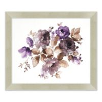 Purple Flowers 23.5-Inch x 27.5-Inch Framed Print Wall Art