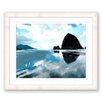 Dark Haystack Rock 24-Inch x 20-Inch Framed Wall Art