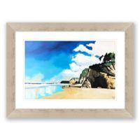 Hug Point 30.25-Inch x 40.25-Inch Framed Print Wall Art