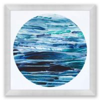 Ocean Moon 3 39.5-Inch Square Abstract Framed Print Wall Art
