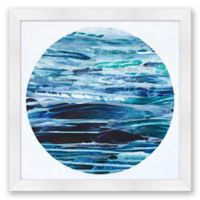 Ocean Moon 3 20-Inch Square Abstract Framed Print Wall Art