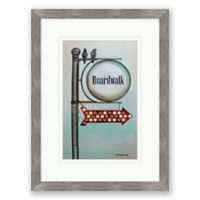 Boardwalk Bound 24-Inch x 18-Inch Framed Print Wall Art