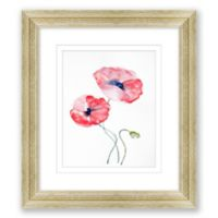 2 Red Poppies 16.5-Inch x 14.5-Inch Framed Print Wall Art