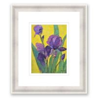 Purple Iris 17.25-Inch x 20.25-Inch Framed Wall Art