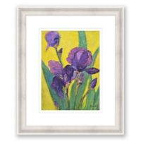 Purple Iris 20.25-Inch x 24.25-Inch Framed Wall Art