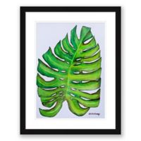 Palm Frond 18.5-Inch x 23.5-Inch Paper Print Framed Wall Art in Black