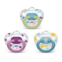NUK® Girl 0-6M 3-Pack Orthodontic Pacifiers