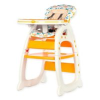 Evezo Rose Convertible High Chair in Yellow