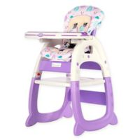 Evezo Rose Convertible High Chair in Purple