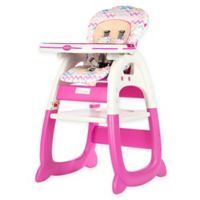 Evezo Rose Convertible High Chair in Pink