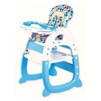 Evezo Rose Convertible High Chair in Light Blue