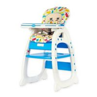 Evezo Rose Convertible High Chair in Blue