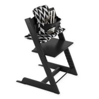 Stokke® 4-Piece Tripp Trapp® High Chair Complete Bundle Set in Black/Chevron