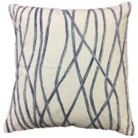 Square Throw Pillow in Beige/charcoal