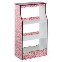 Teamson Kids Giraffe Prints Karlie 2-Shelf Bookshelf in Pink/Black