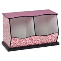 Teamson Kids Giraffe Prints Miranda Cubby Storage in Pink/Black