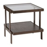 Madison Park Bailey End Table in Dark Brown