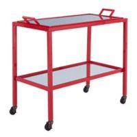 Southern Enterprises Kersey Bar Cart in Red