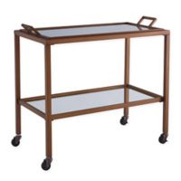 Southern Enterprises Kersey Bar Cart in Antique Brass