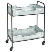 Linon Home Dover Indoor/Outdoor Bar Cart in Silver