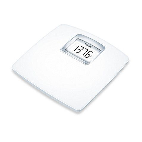 Beurer White LCD Digital Bathroom Scale
