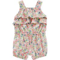 carter's® Size 9M Floral Ruffle Romper
