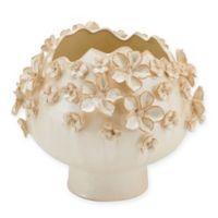 Elements by Pfaltzgraff® 7.5-Inch Round Sprinkled Flower Vase in Cream