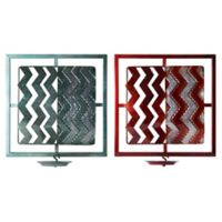 Elements by Pfaltzgraff® Rustic Metal Chevron Sconces (Set of 2)