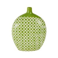 Elements by Pfaltzgraff® Patterned 13-Inch x 10-Inch Ceramic Vase in Green