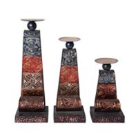 Elements by Pfaltzgraff® Scroll Metal Patchwork Candle Holders (Set of 3)